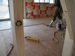 床張り施工