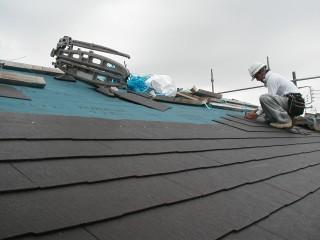 屋根葺き状況